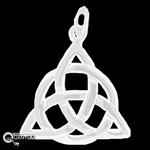 Sterling Silver Celtic Trinity Knot Pendant (#QA1)