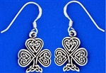 Celtic Knot Shamrock Earrings (RPEW6)