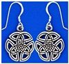 """Wings of an Angel"" Celtic Trinity Knot Earrings (Rpew8)"