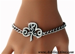 """The Journey""  Shamrock/Triskel Charm Bracelet ( S101)"