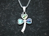 """Full of Faith"" Abalone Shamrock Necklace (S107 w/c)"