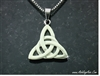 "316L Stainless Steel Modern Trinity Knot Pendant with 18"", 20"" or 24"" chain(s139)"