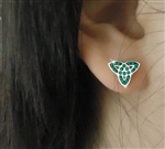 CZ Trinity Knot Post Earrings