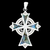 Abalone Eternity Trinity High Cross (#S17)
