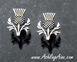 Bold and Beautiful Scottish Thistle Earrings (S181)