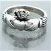316 L Stainless Steel Petite Claddagh Ring (#S2)