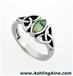 Abalone Trinity knot Ring (S82)