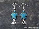 """Celtic Sea Turtle"" Trinity knot Earrings(turtles)"