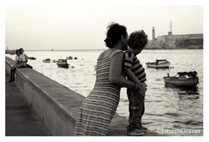 Fine Art Giclee Print - 'Love on the Malecon' - Havana, Cuba