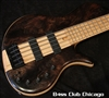 Elrick Platinum Series E-vo 5 Single Cut w/gorgeous Water Cured Redwood Burl Top 0316
