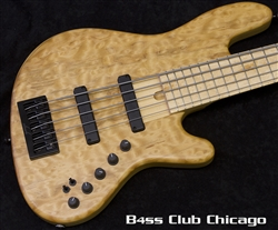 Elrick US NJS 5 Quilted Maple Jazz Bass - Preowned