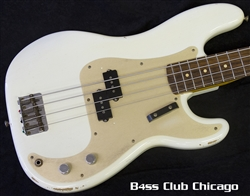 Fender Custom Shop 59 Precision Aged Olympic White Relic - PREOWNED