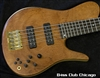 Fodera Imperial Elite Select 5 Redwood Pin Burl 6893 Brazilian Fretboard!