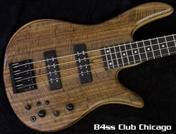 Fodera Monarch 4 Standard Special Flame Walnut 7801 - SOLD!