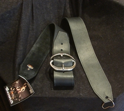 Heavy Leather Hells Bells Strap NYC Metal XL Black