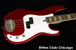 Lakland Skyline 44-64 Candy Apple Red Matching Headstock