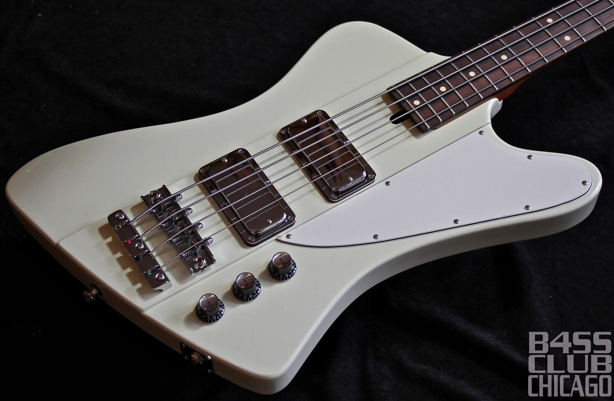 Mike Lull T4 Thunderbird Bass Guitar Olympic White