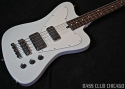 Mike Lull NRT4 Non Reverse Thunderbird T-Bird Olympic White Bass Guitar