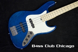 Sadowsky NYC 4-21 Flame Maple Trans Blue 8130