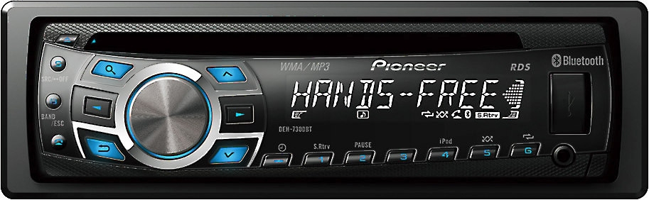 Pioneer DEH-7300BT CD Receiver with Built-In Bluetooth® and USB Direct Control for iPod®/iPhone®