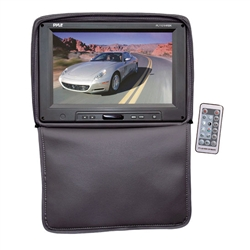 Adjustable Black Headrests w/ Built-In 11'' TFT/LCD Monitor W/IR Transmitter & Cover