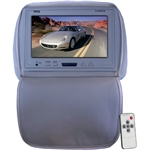 Pyle PL90HRGR Adjustable Gray Headrest/ Built-In 9'' TFT-LCD Monitor with IR