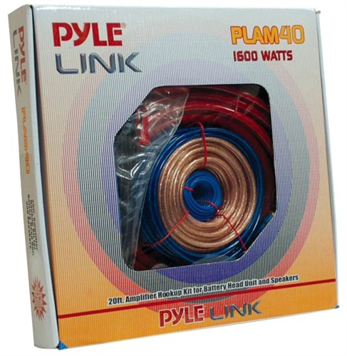 Pyle PLAM40 20ft 4 Gauge 1600 Watt Amplifier Installation Kit