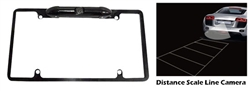 Pyle PLCM19 Low Lux Rear Camera Black Chrome Metal Lisence Plate Frame