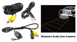 Pyle PLCM24IR Universal Mount Rear View Backup Camera w/ gridlines