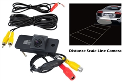 Audi Vehicle Specific Infrared Rear View Backup Camera with Distance Scale Line