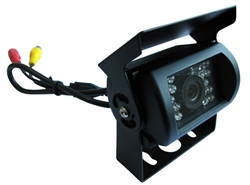 Heavy Duty Universal Mount Infrared Rear View Camera w/ Anti-glare Shield & Distance Scale Line