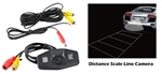 Honda Vehicle Specific Infrared Rear View Backup Camera with Distance Scale Line
