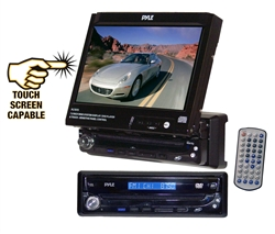 Pyle PLTS75 Touch Screen 7'' Motorized TFT/LCD Monitor DVD/CD/MP3 Player/AM/FM