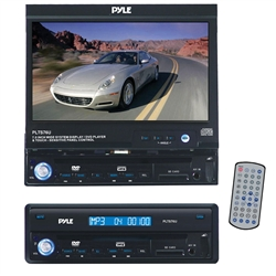 Pyle PLTS76U 7'' Single DIN IMotorized Touch Screen LCD Monitor w/ DVD/CD/MP3/USB/SD/AM-FM Receiver