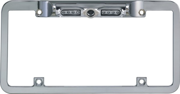 Boyo VTL200CIR Zinc Metal Chrome Full Frame License Plate Camera