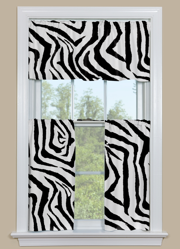 Black And White Kitchen Curtains Home Design