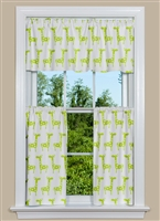 Stretch - White/Chartreuse Window Curtains