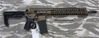 "POF-USA Patriot Ordnance Factory GEN 4 P415-16-14M-223 Burnt Bronze gas piston rifle, with 14"" Modular rail M-Lok compatible, and E-Squared technology, in stock ready to ship, SKU 00722"