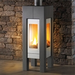 Hearthstone Modena 8140 Contemporary Gas Stove (Shown In Charcoal Matte)
