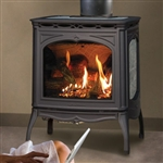 Hearthstone Tucson 8702 Soapstone Direct Vent Gas Stove (Shown In Black Matte w/ Soapstone)