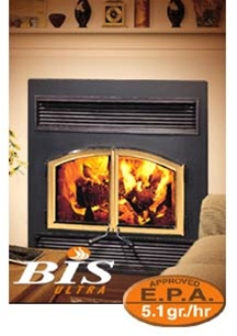 Security BIS Ultra Wood Fireplace at Obadiah's Woodstoves.