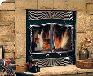 Country Flame Inglenook Wood Fireplace