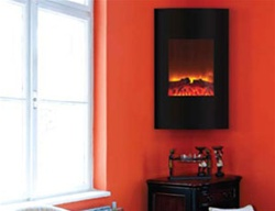 Amantii Wm 2134 Vertical Convex Electric Fireplace