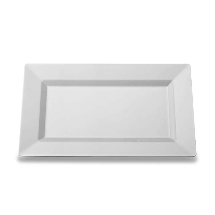 Heavy-Weight Disposable Plastic Rectangle Plates ...  sc 1 st  Zappy & Elegant Disposable Plastic Rectangle Plates Rectangular Dinner Plates