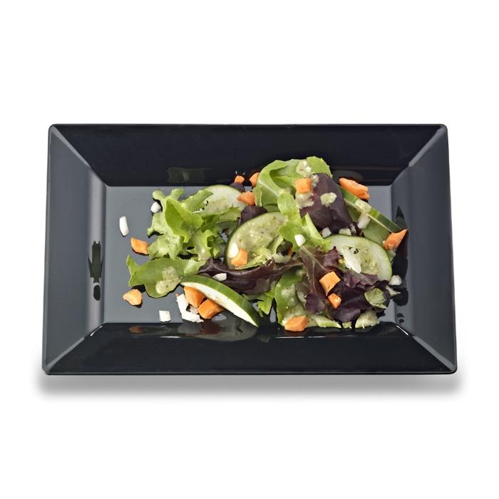 Emi-Yoshi Emi-Rp8 10  By 6.5  Rectangle Disposable Plastic Salad Plates  sc 1 st  Zappy & Elegant Disposable Plastic Rectangle Plates Rectangular Salad Plates
