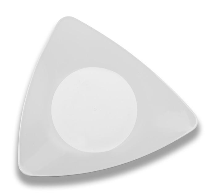 Triangle Plates ...  sc 1 st  Zappy & EMI-Yoshi Elegant Triangle Disposable Plastic Salad Plates