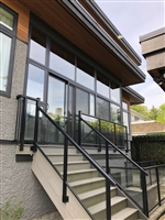 Aluminum Frame with 5mm tempo glass railing