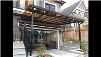 Glass Patio Cover with
