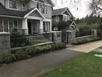 Classical Railing with stone base