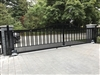 dual aluminum swing gates with Nice Robus 400